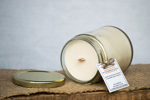 No. 01: Tobacco & Vanilla | Soy Wood Wick Candle