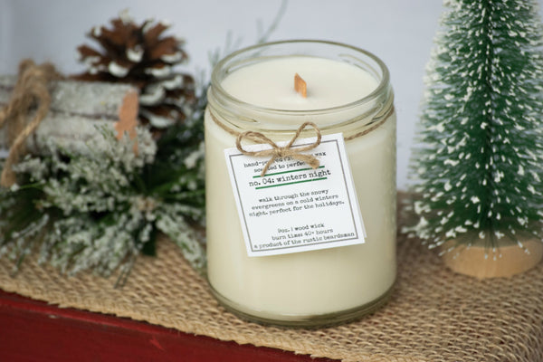 No. 04: Winters Night | Soy Wood Wick Candle