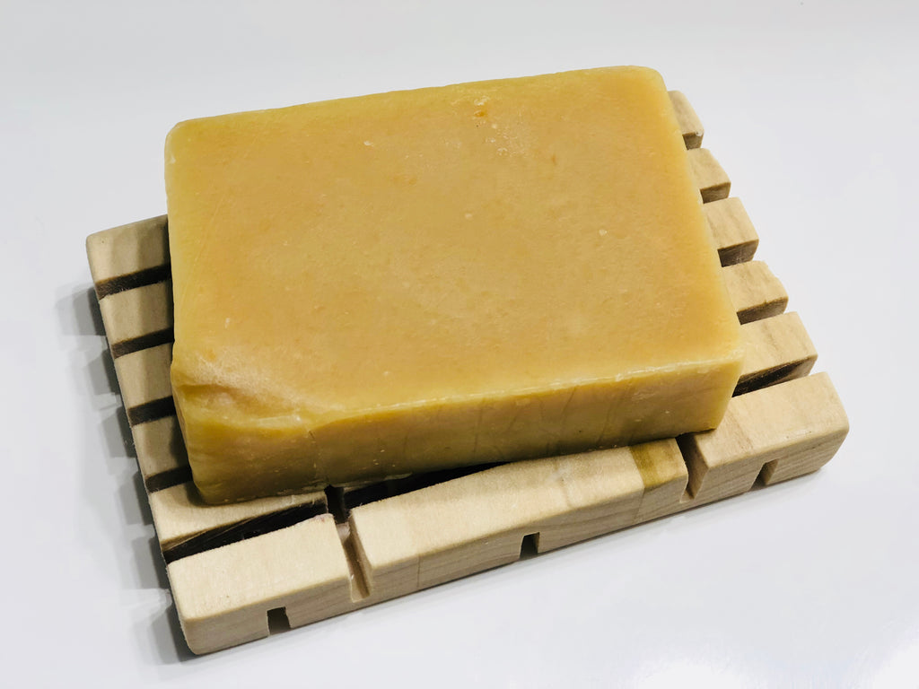 Lemon & Mint Goats Milk Soap Bar | The Rustic Beardsman