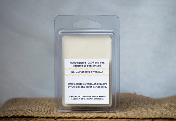 No. 01: Tobacco & Vanilla | Soy Wax Melts | The Rustic Beardsman