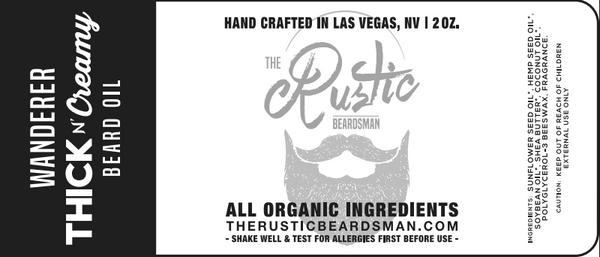 Thick & Creamy | Beard Oil Wanderer Blend