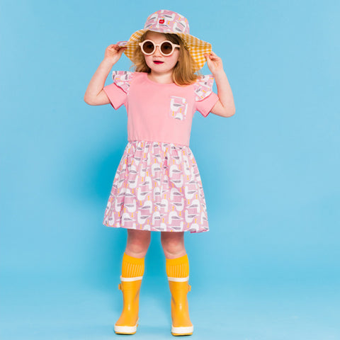 Seagull dress and hat for kids