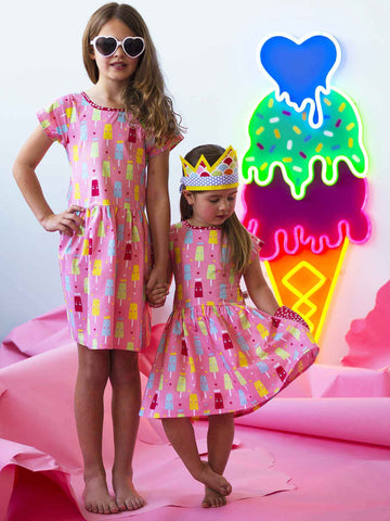Long Weekend Strawberry Princess Ice Cream Dress