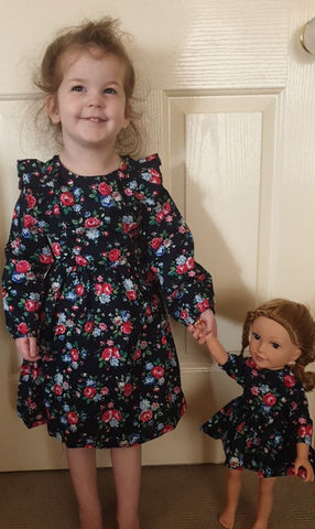 Matching girls and doll dress