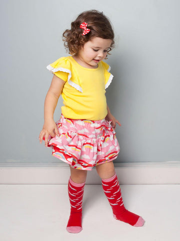 Blossom Rainbow Skirt with Bloomer, Sizes in 6M - 24M - The Happiness Blog | Oobi Girls Kid Fashion