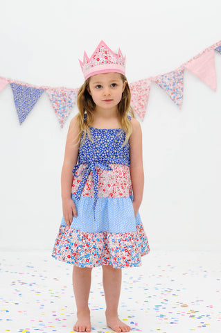 Holiday French Primrose Dress, Sizes in 3Y - 10Y - The Happiness Blog | Oobi Girls Kid Fashion