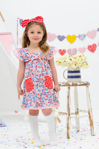 Holly French Primrose Dress, Sizes in 2Y - 8Y - The Happiness Blog | Oobi Girls Kid Fashion
