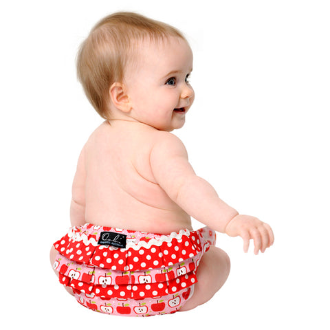 Red baby bloomers