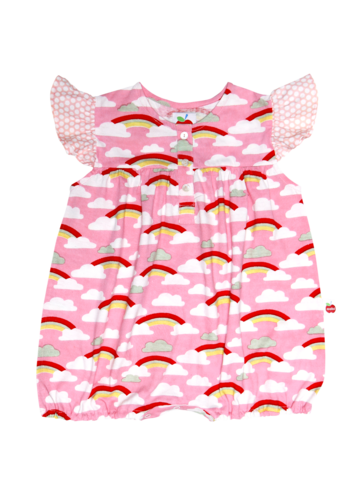 Rainbow Playsuit, Sizes in 6M - 3Y - The Happiness Blog | Oobi Girls Kid Fashion