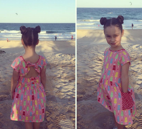 Rachel's little Oobi Styling in the Long Weekend Princess Ice Cream Strawberry Dress - The Happiness Blog | Oobi Girls Kid Fashion