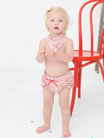 Bandanna Bib & Sugar Shorts (from Rosie Set) - The Happiness Blog | Oobi Girls Kid Fashion