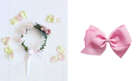 Juliette Flower Crown and the Grosgrain Large Bow