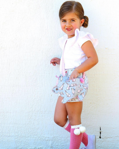 Dolly Mint Shorties - Easter With Mr Bun Bun - The Happiness Blog | Oobi Girls Kid Fashion