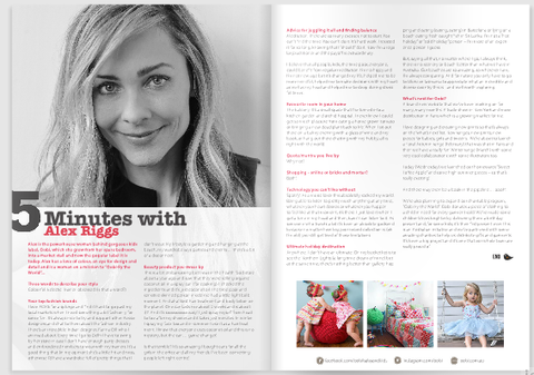 5 Minutes With Alex Riggs Interview For Kid Magazine - The Happiness Blog | Oobi Girls Kid Fashion