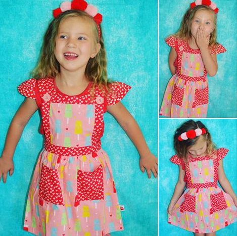 Beautiful Lily wearing Our Lily Strawberry Princess Ice Cream Dress - The Happiness Blog | Oobi Girls Kid Fashion