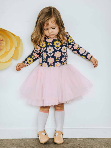 Claudia Dress Navy Scandi for Girls