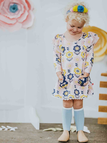 Darcy Dress Pink Scandi Flower
