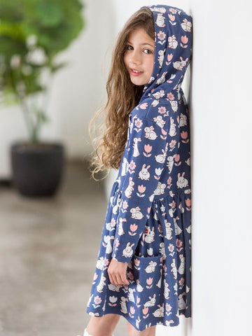 Hoodie dress blue