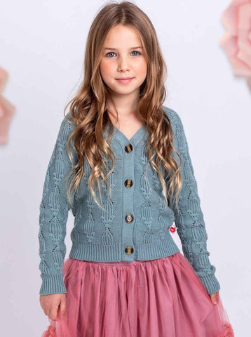 Teal cardigan for kids