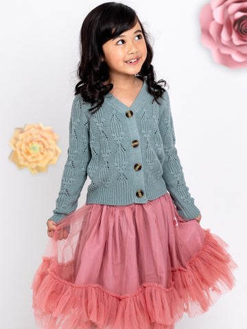 Cardigan and skirt for girls
