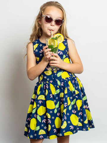 Blue lemon dress
