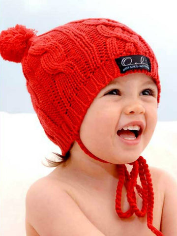 Cable Knit Beanie for Girls