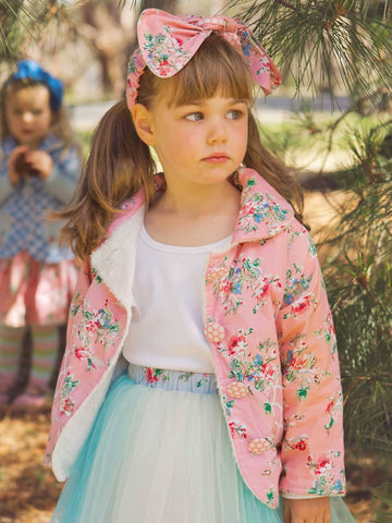 Little Girls Jacket Pink Floral