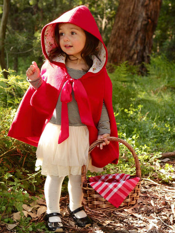 Red Riding Hood Winter Cape for Girls