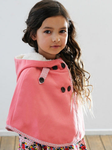 Rosebud Blossom Winter Capelet for Girls