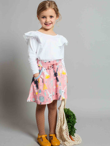 Piper Pink Bunny Skirt