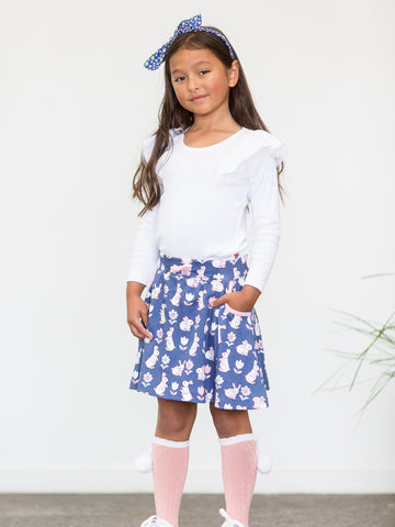 Blue girls skirt