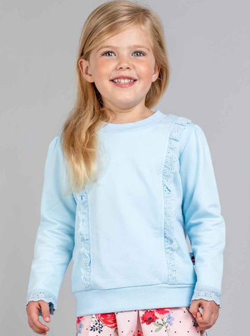 Blue lacy tee for kids