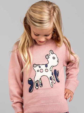 Pink sweater for kids