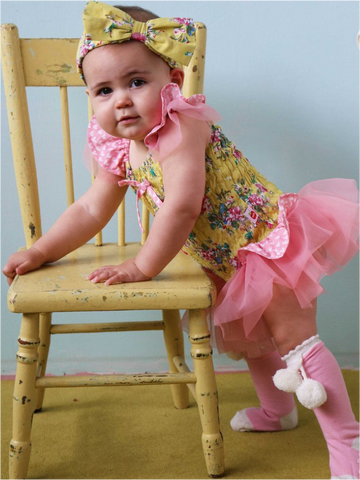 Lucia Lemon Painted Floral Romper