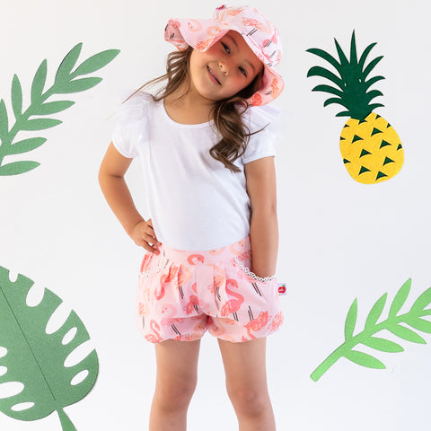 Flamingo print shorts for kids