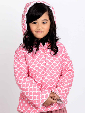 Pink coat for girls