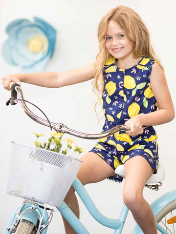Blue lemon romper