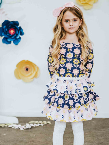 Sienna Scandi Flower Winter Dress