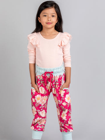 Pink long sleeve tee for kids