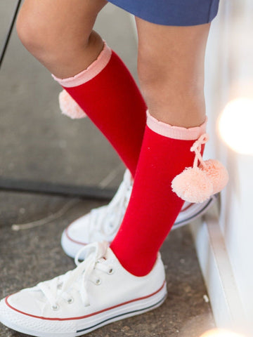 Red socks for girls
