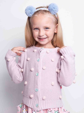 Lilac Bobble Cardigan for Girls