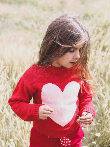 Sweetheart Jumper Winter Wear for Girls