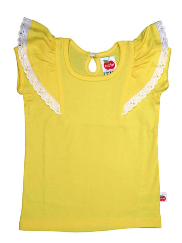 Flutter Buttercup Tee, Sizes in 12M - 5Y - The Happiness Blog | Oobi Girls Kid Fashion