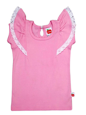 Flutter Pink Tee, Sizes in 6M - 12Y - The Happiness Blog | Oobi Girls Kid Fashion