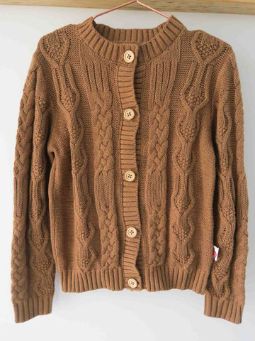 Brown cardigan for kids