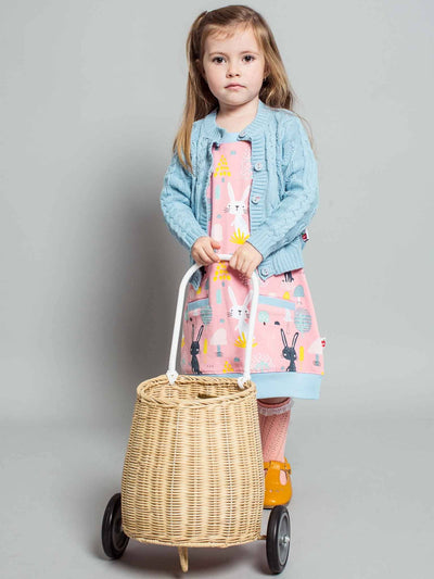 Willow Cardigan Blue Cloud, Sweaters & Cardigans - Oobi Girls Kid Fashion