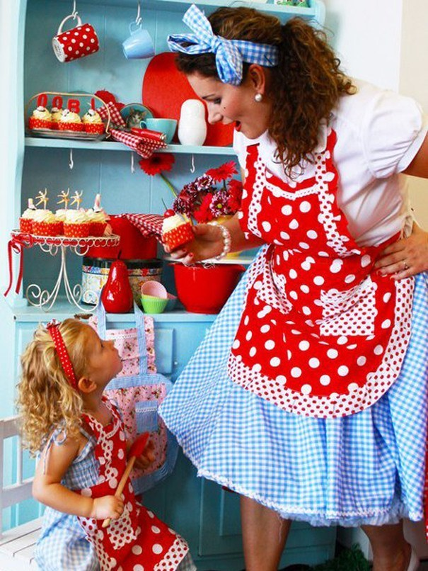 Cookie Apron Red Dot, Accessories - Oobi Girls Fashion