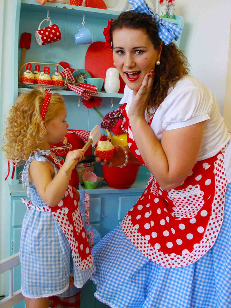 Cookie Apron Red Dot, Accessories - Oobi Girls Kid Fashion
