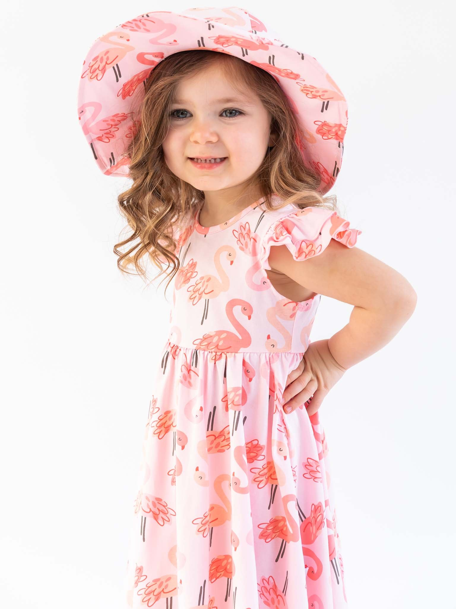 Margot Flamingo Jersey Ponytail Hat