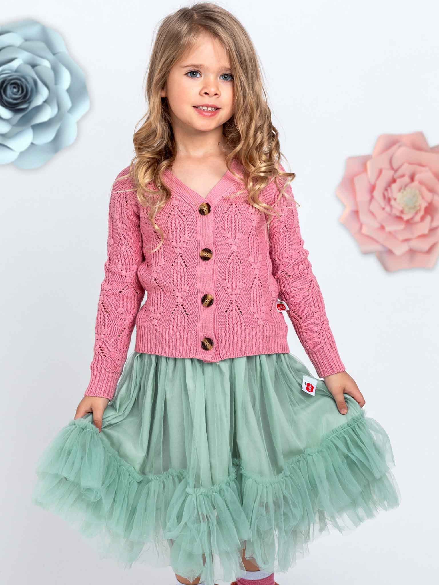 Teal tulle skirt for girls